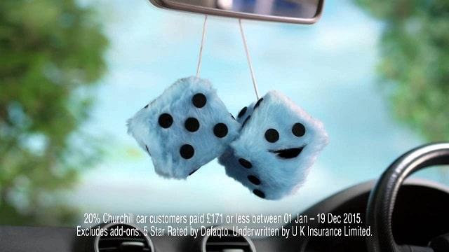 Churchill Furry Dice Advert Song