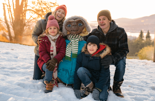 Sky - Elliot's family with E.T.