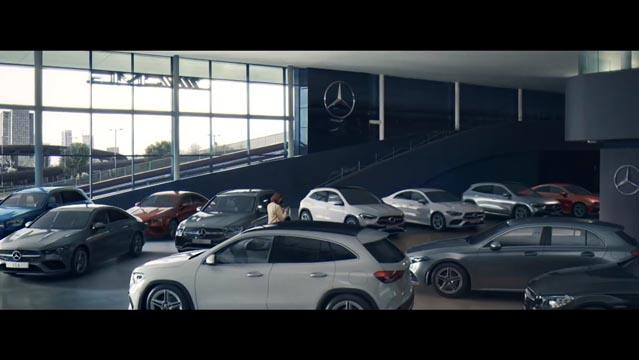 Mercedes Online Showroom Advert music