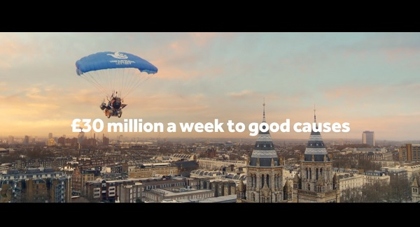 National Lottery Advert Song - Wheelchair Flight