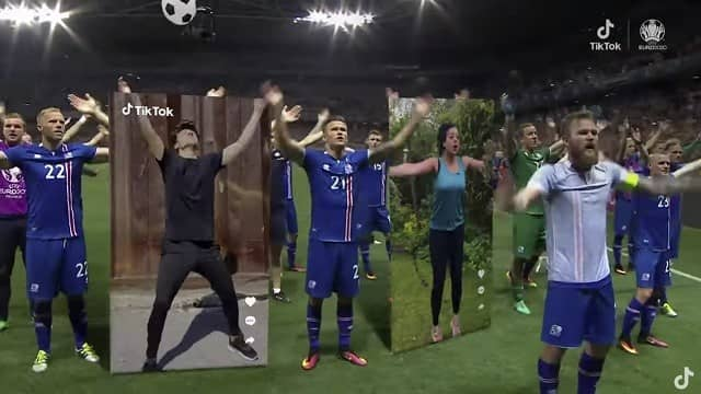 TikTok Euro 2020 sponsor advert song