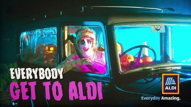 Aldi 2021 Halloween Advert - Everybody get to Aldi